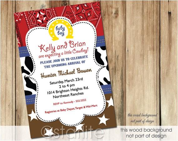 western theme baby shower invitation