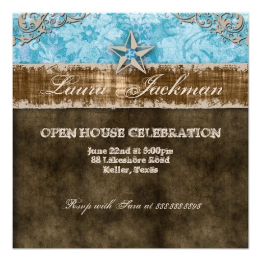quinceanera vintage photo card star blue invitation 161321476886767676