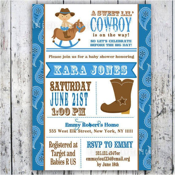 cowboy themed baby shower items for western theme decorations