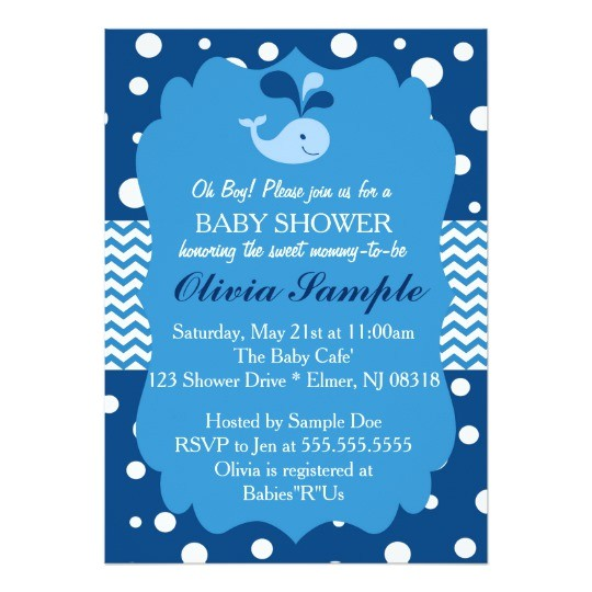 whale baby shower invitation nautical baby shower card