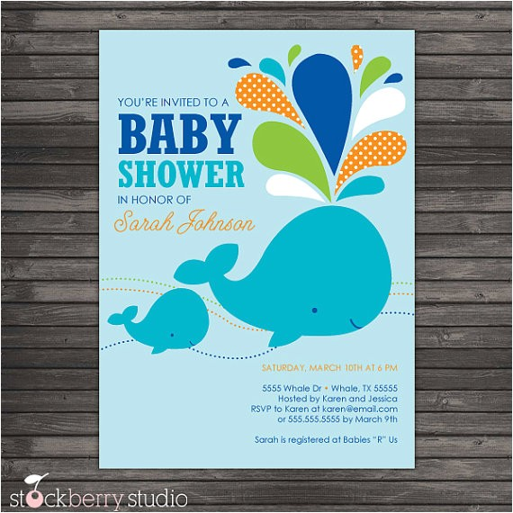 blue whale baby shower diy printable 4