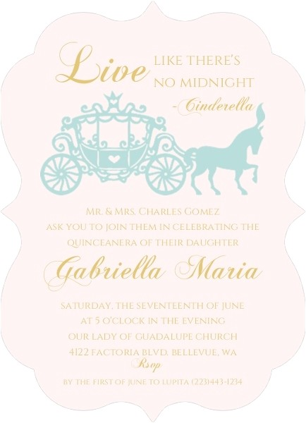 quinceanera invitation wording