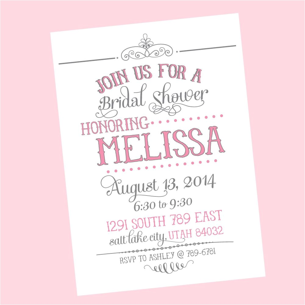 wedding shower invitations wording