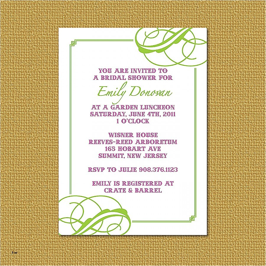 what to write on a bridal shower invitation
