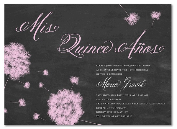 what to write on quinceanera invitations