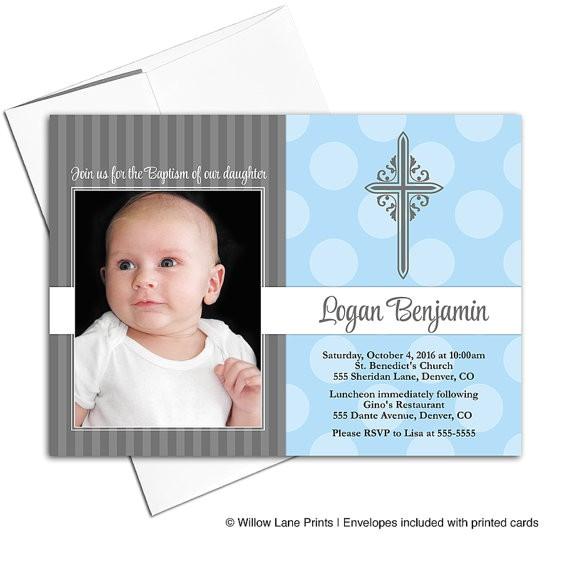 baby boy christening invite baptism invitations
