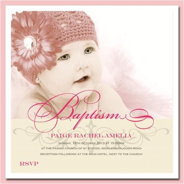 Where to Buy Baptism Invitations Baby Girl Christening Invitations