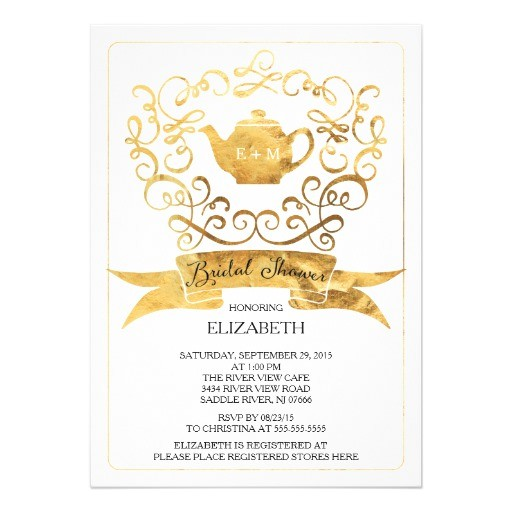 whimsical tea party bridal shower invitation 256377774606700277