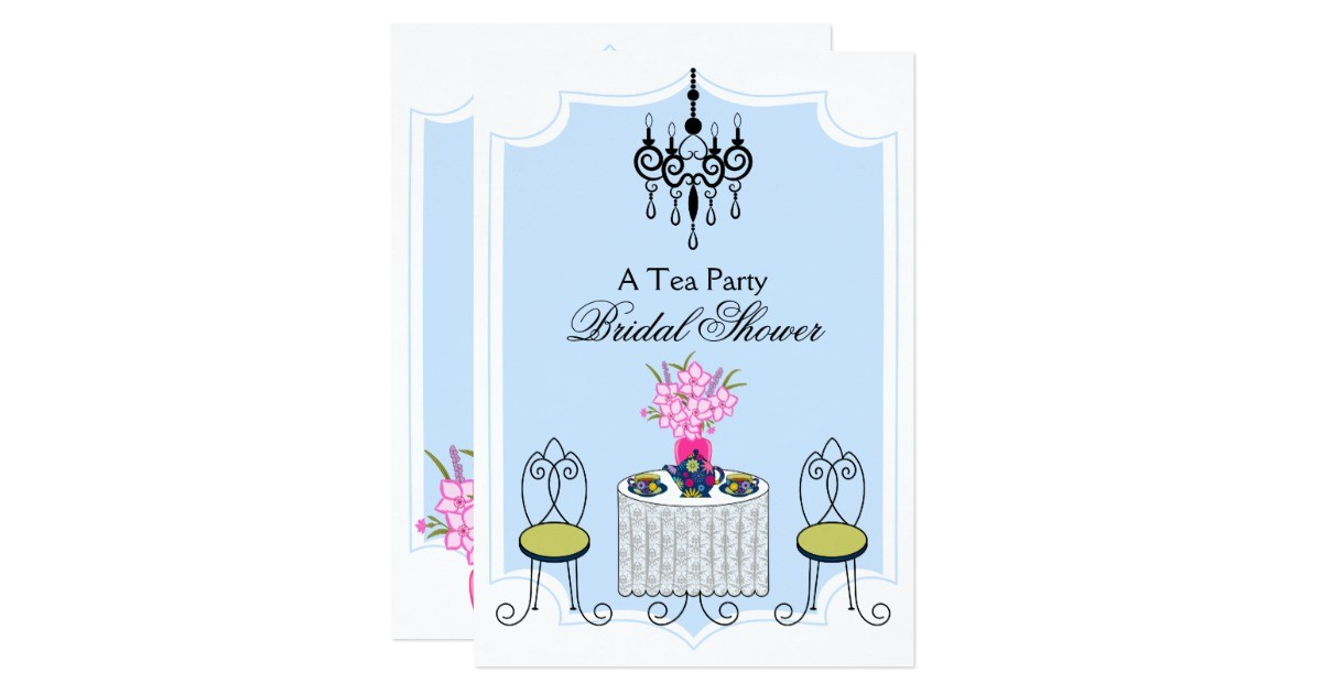 whimsical tea party invitation 161438912682091236