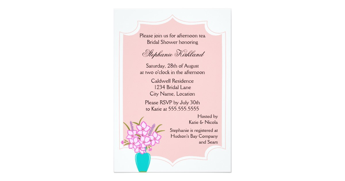 whimsical tea party invitation 161178983381239876
