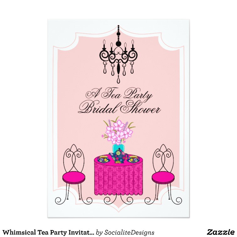 Whimsical Tea Party Invitations Whimsical Tea Party Invitation Zazzle