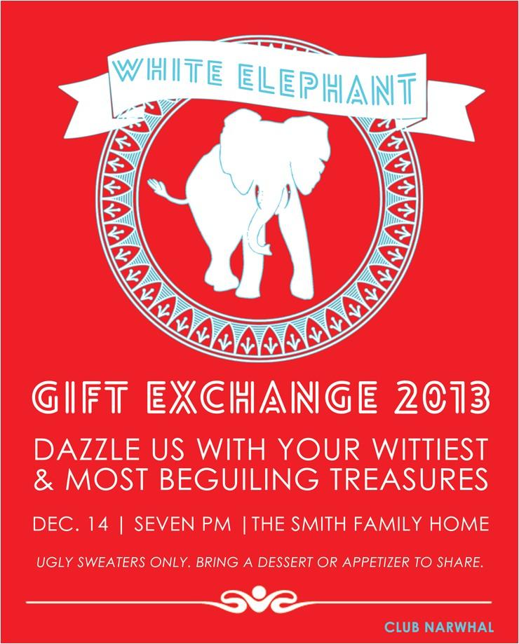 white elephant t exchange free