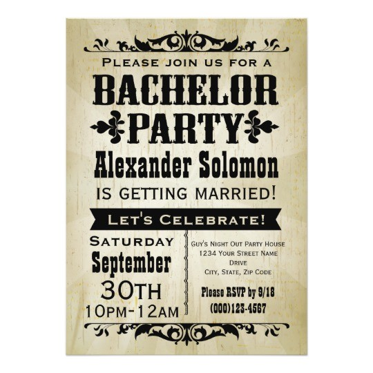 vintage country bachelor party invitation 161073373147854219
