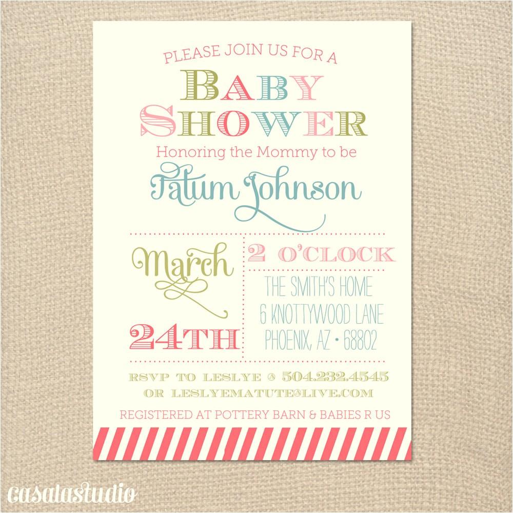 baby free printable girl shower invitations bulk