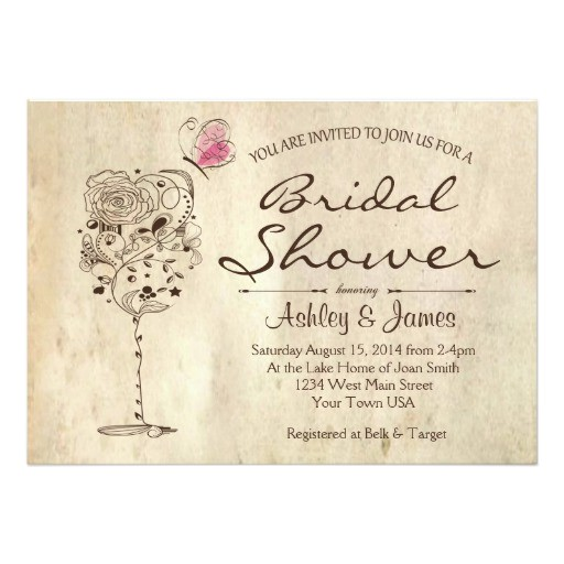 Wine and Cheese Bridal Shower Invites Wine & Cheese Bridal Shower Invitation