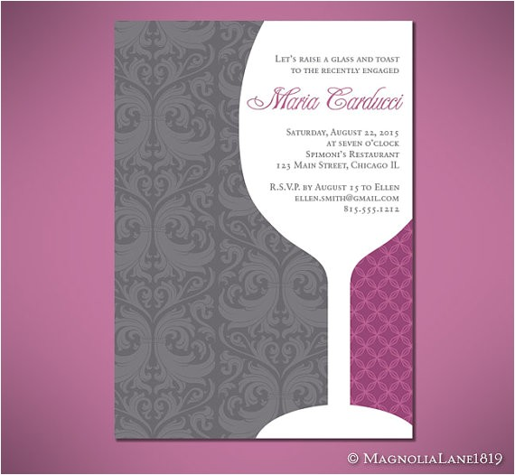 wine glass bridal shower or engagement
