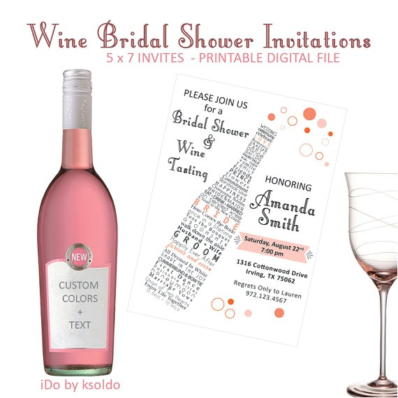 wine bridal shower wine tasting
