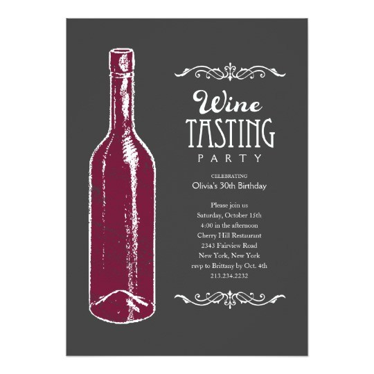 wine tasting invitations