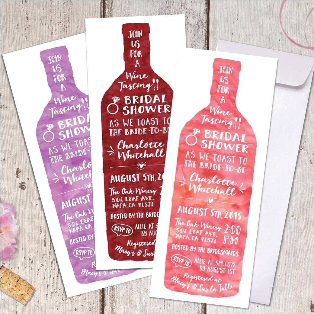 wine tasting theme bridal shower