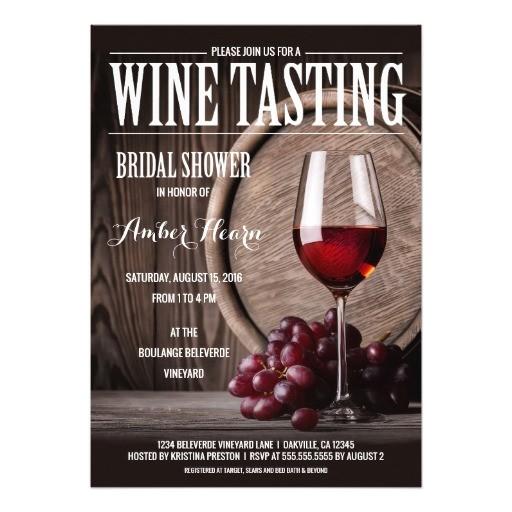 wine tasting bridal shower invitations