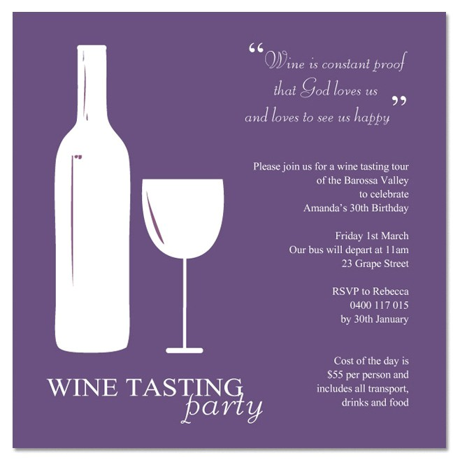 how to create wine party invitations