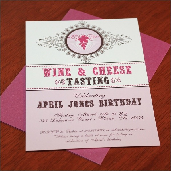 wine party invitations template