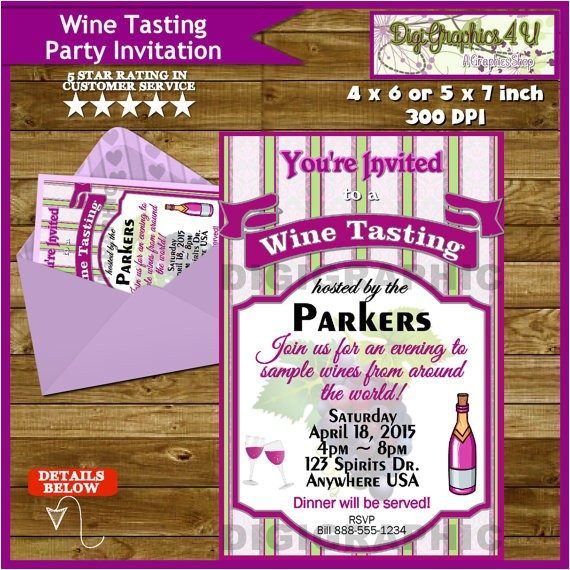 wine tasting cocktail party invitation