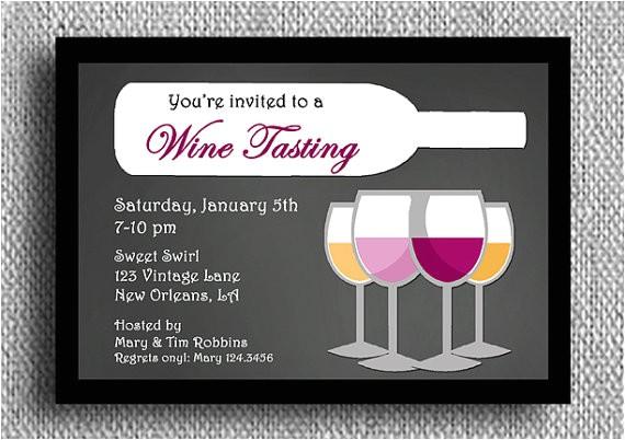 wine tasting invitation printable or