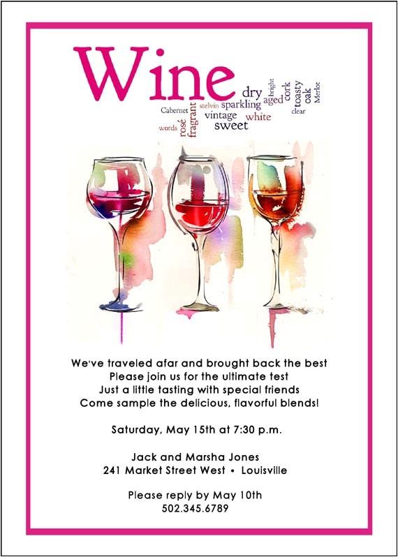 wine tasting invitation wine and cheese