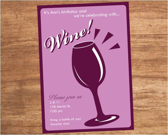 wine tasting party custom printable