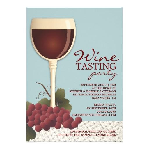 wineglass grapes wine tasting party invitation 161772375968458489