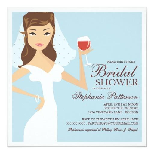 modern bride wine theme bridal shower invitation 161026573113268016