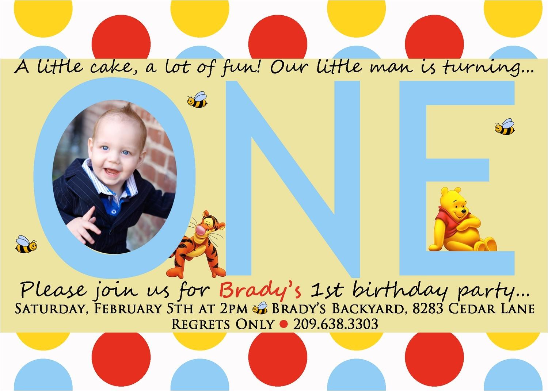 winnie the pooh invitations for 1st birthday