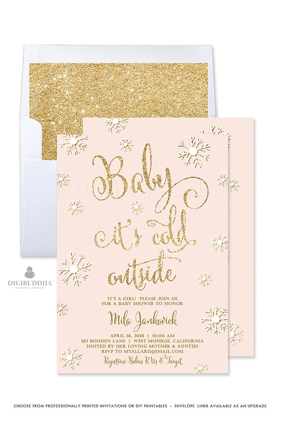 baby cold invitation winter baby shower 2