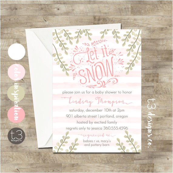 girl winter wonderland invitation winter