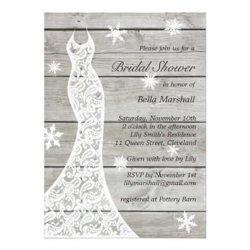 beautiful rustic winter bridal shower invitation 161773104911993693