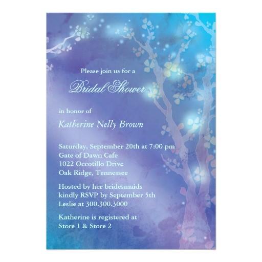 bridal shower invitations blue