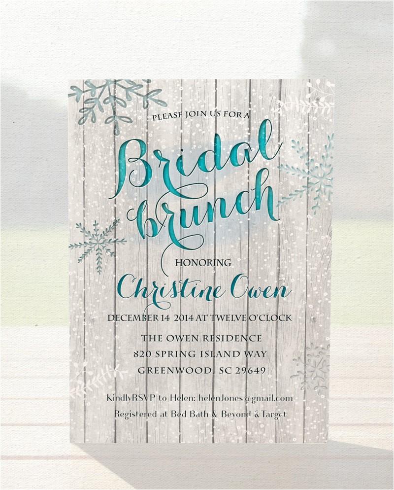 winter bridal shower invitation bridal