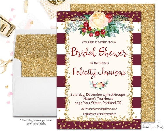 winter engagement party invitation fall bridal
