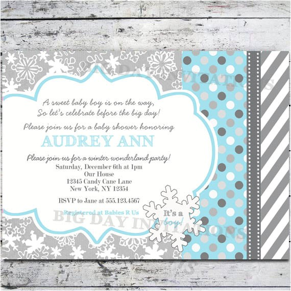 winter wonderland baby shower invites