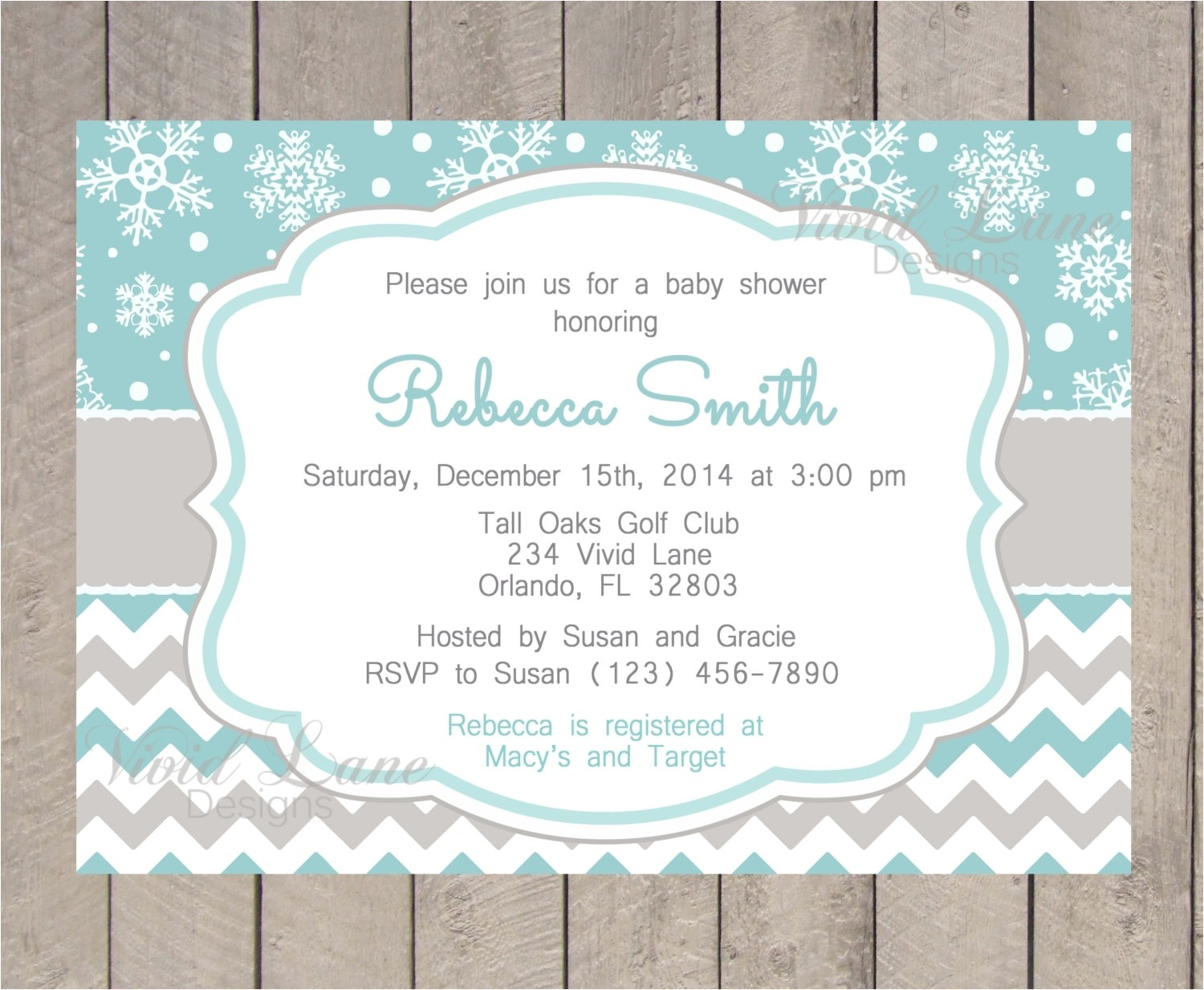 winter baby shower invitations template