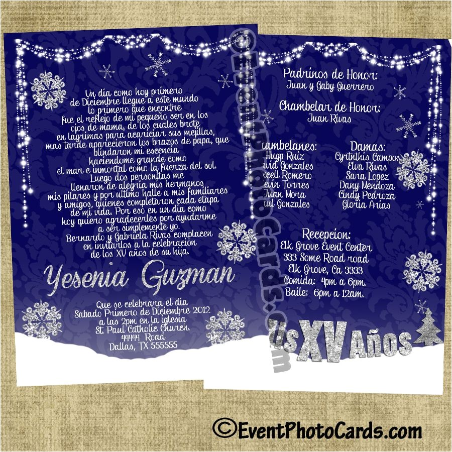 winter wonderland invitations