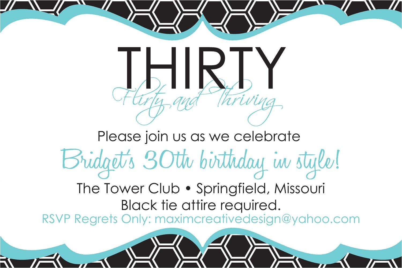 30th birthday invitations