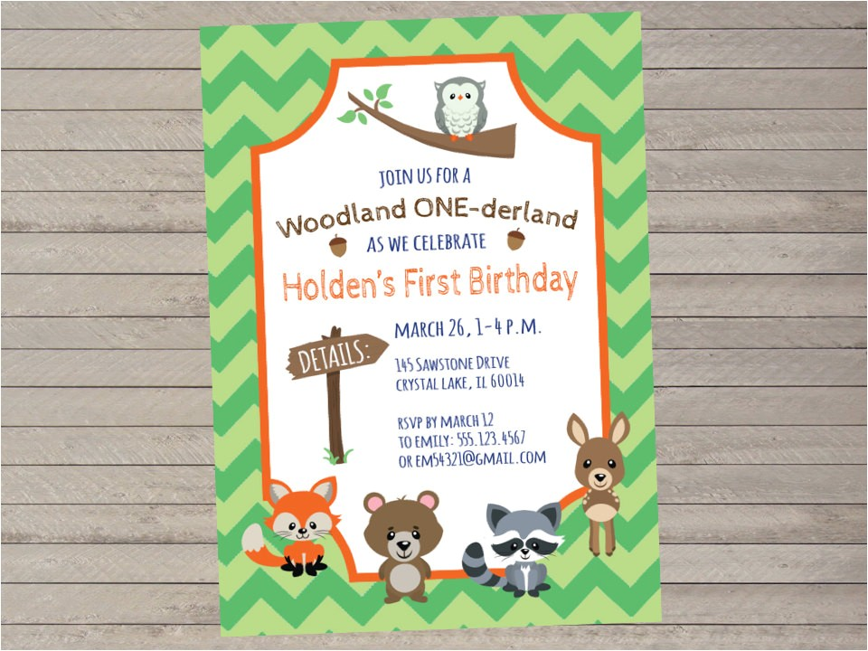 woodland onederland 1st birthday