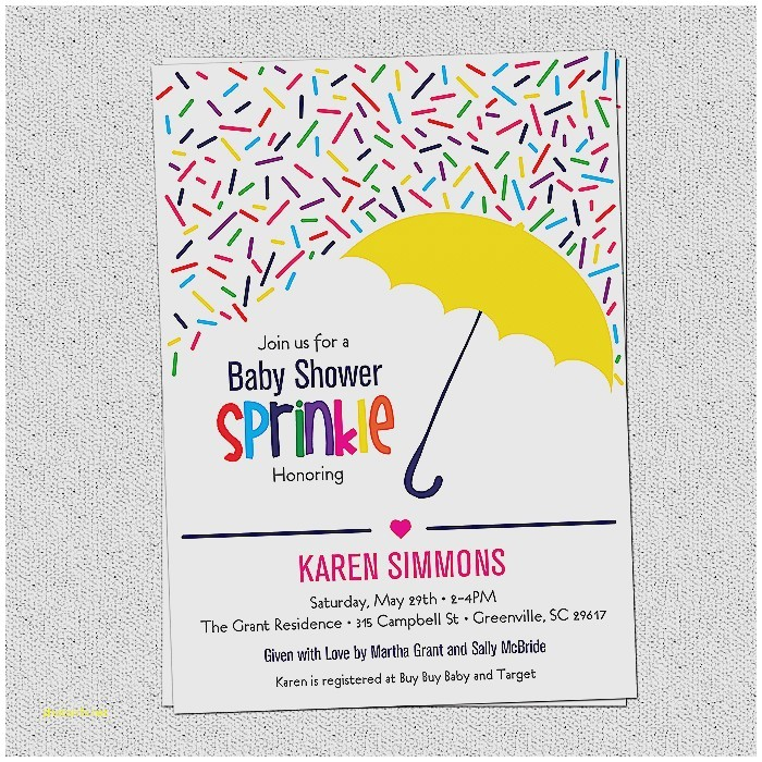 second baby shower invitation wording sprinkle awesome sprinkle baby shower invitation raining rainbow sprinkles and