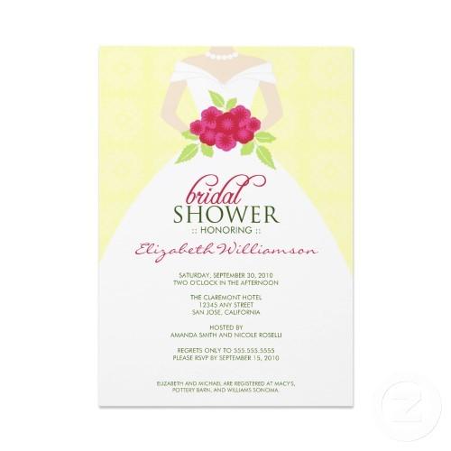 sample bridal shower invitations wording