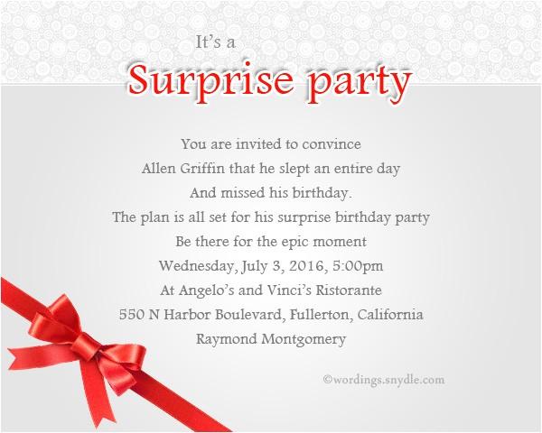 surprise birthday party invitation wording 2