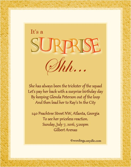 Wording for A Surprise Party Invitation Surprise Party Invitation Wording Gangcraft Net