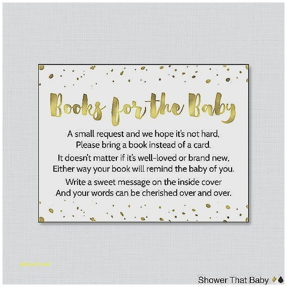 baby shower invitation wording bring books instead of card