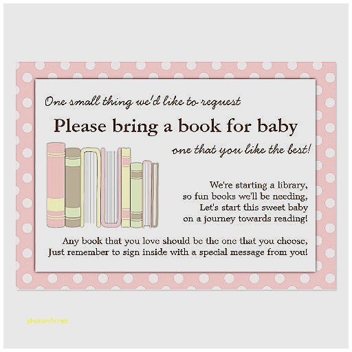 baby shower invite wording bring a book